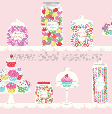 Обои  jb80001 The Jelly Beans (Pelican Prints)