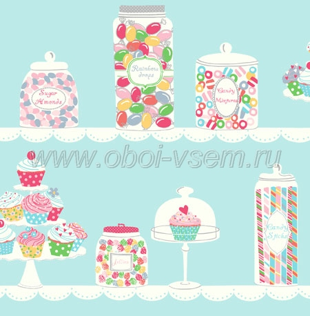 Обои  jb80002 The Jelly Beans (Pelican Prints)