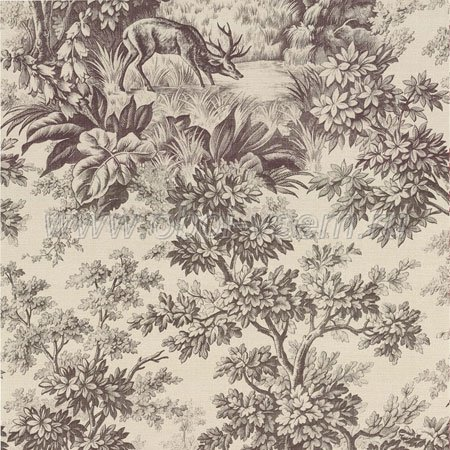 Обои  Stag Toile Chocolat Révolution Papers (Little Greene)
