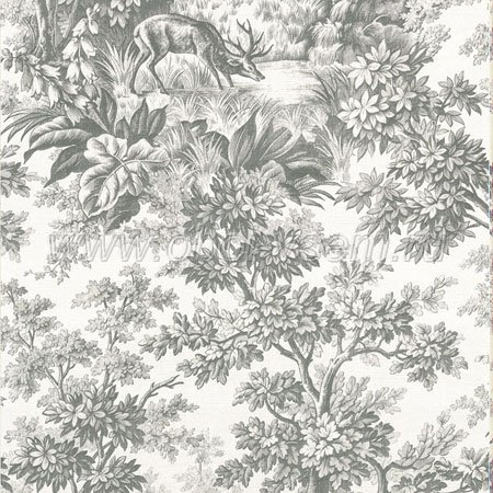 Обои  Stag Toile Moss Révolution Papers (Little Greene)