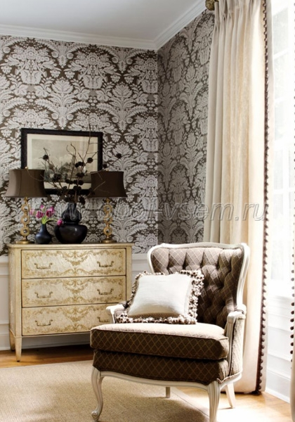 Обои  839-T-7615 Damask Resource vol.3 (Thibaut)