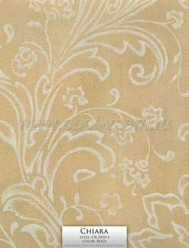 Обои  CR-2010-4 Beige Imperivm Collection Wallpapers (Paul Montgomery)