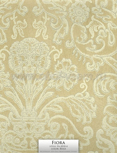 Обои  FA-2010-4 Beige Imperivm Collection Wallpapers (Paul Montgomery)
